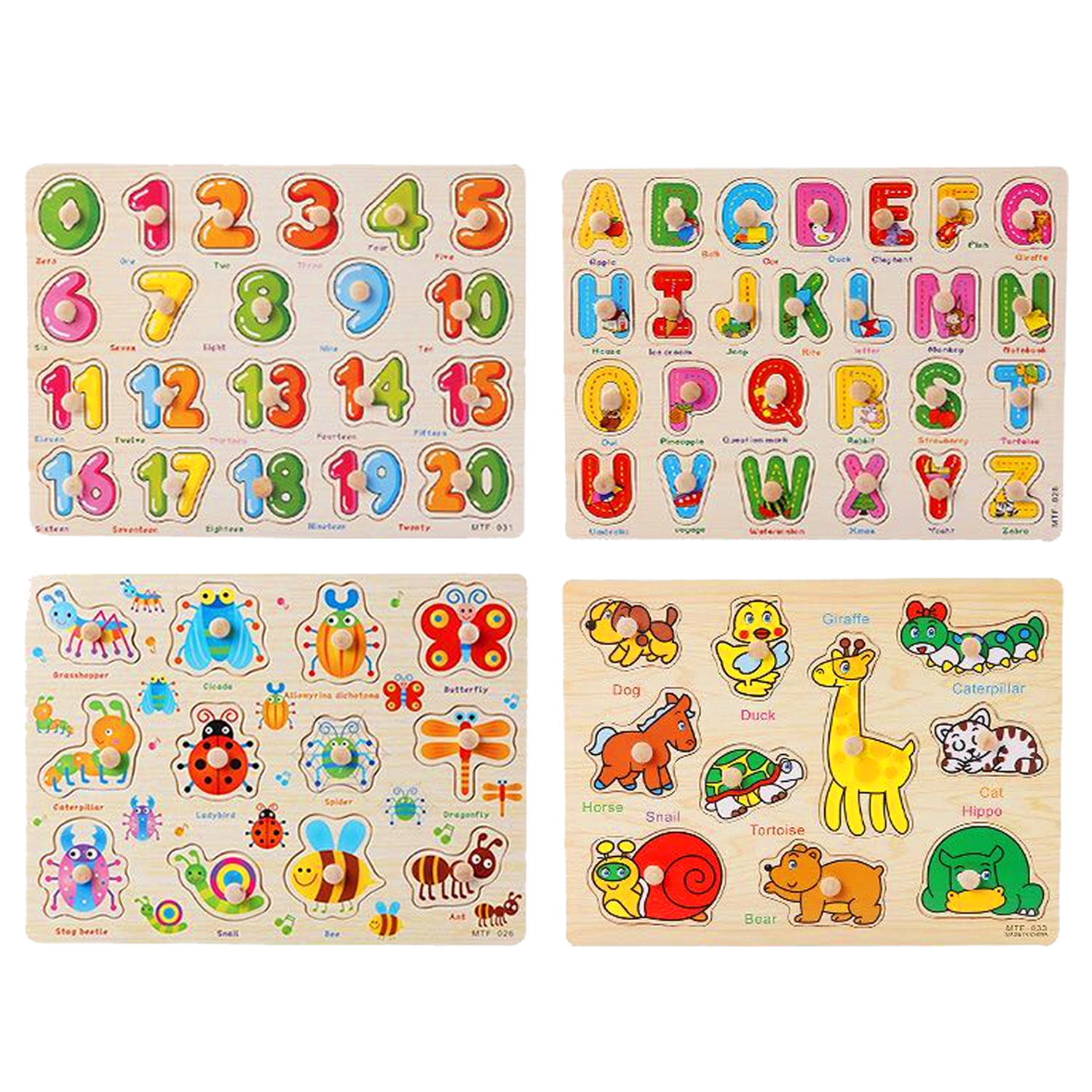 2020 Wooden Colorful Jigsaw Puzzle Educational Toy - OPAL TOYS