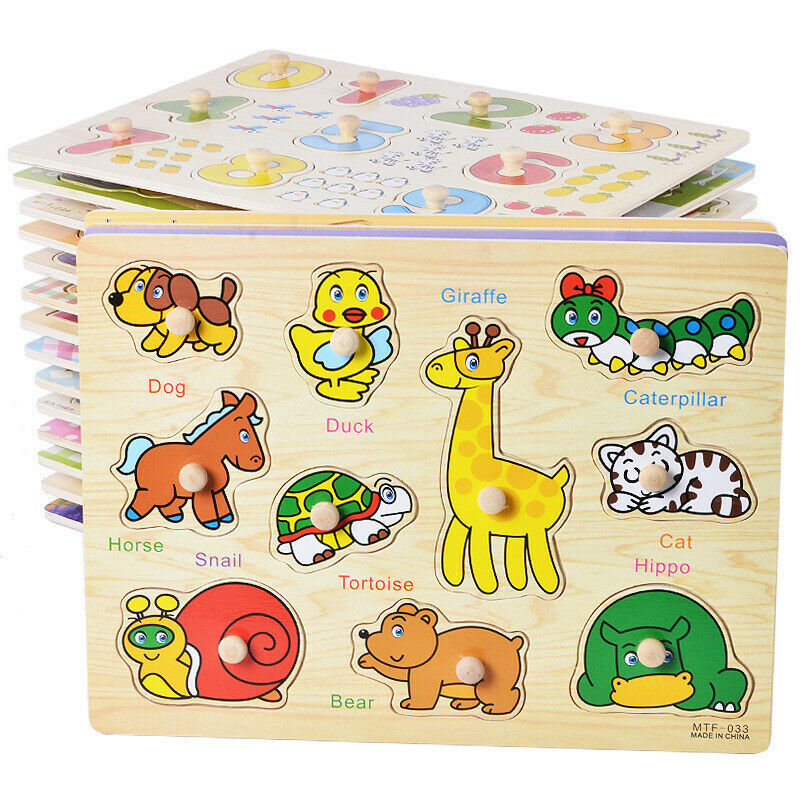 2020 Wooden Colorful Jigsaw Puzzle Educational Toy