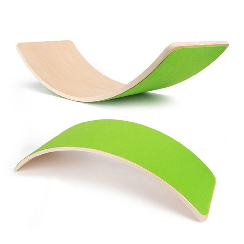 Wooden balance board – Green