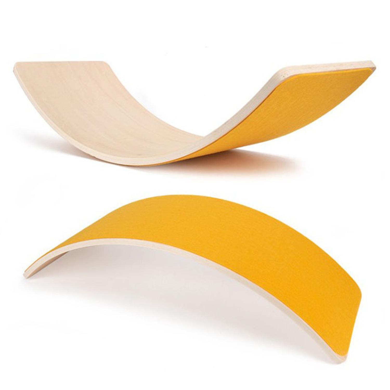Wooden balance board-Yellow