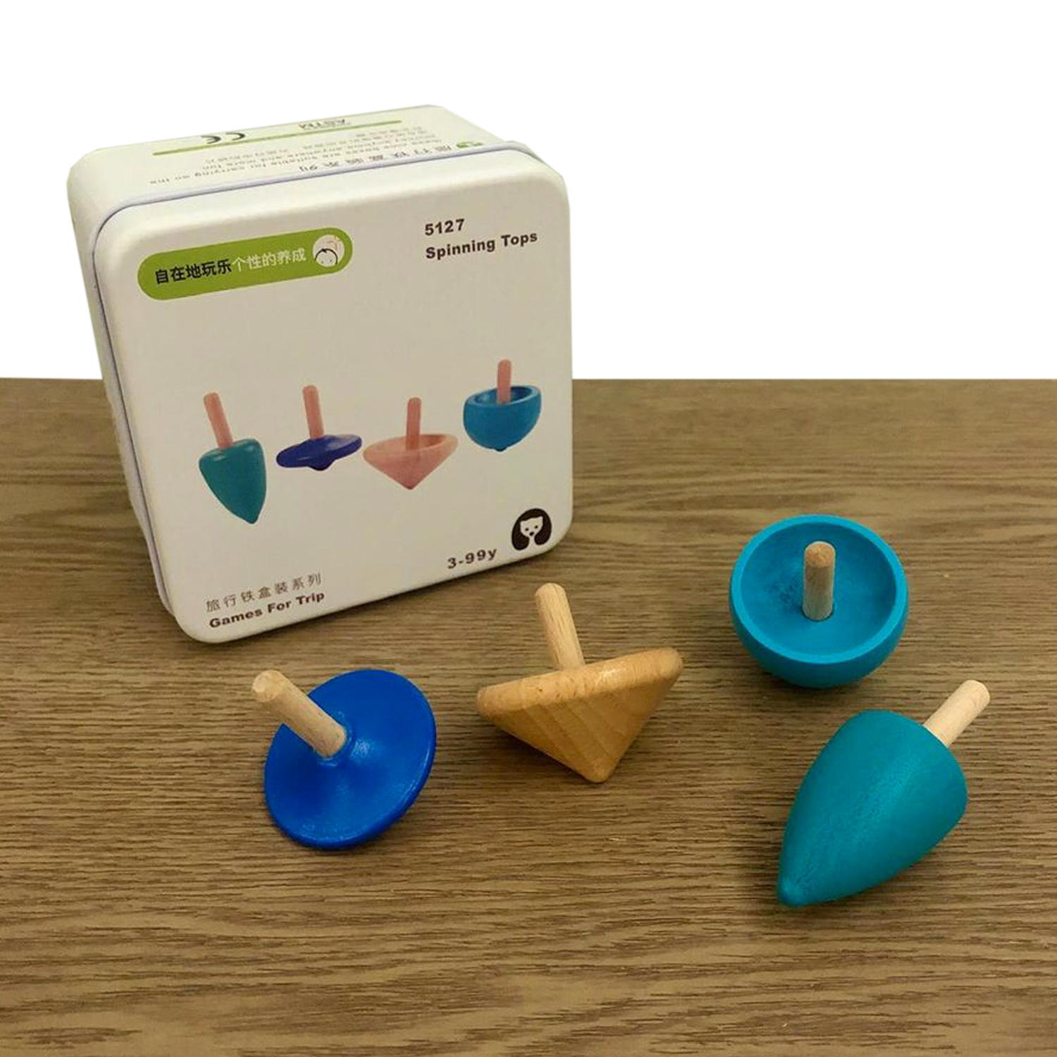 PlanToys Wooden Spinning Tops