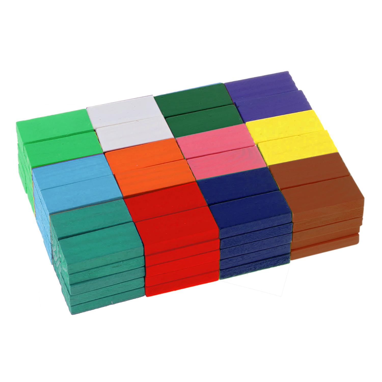 120 Pieces Wooden Domino Blocks Set