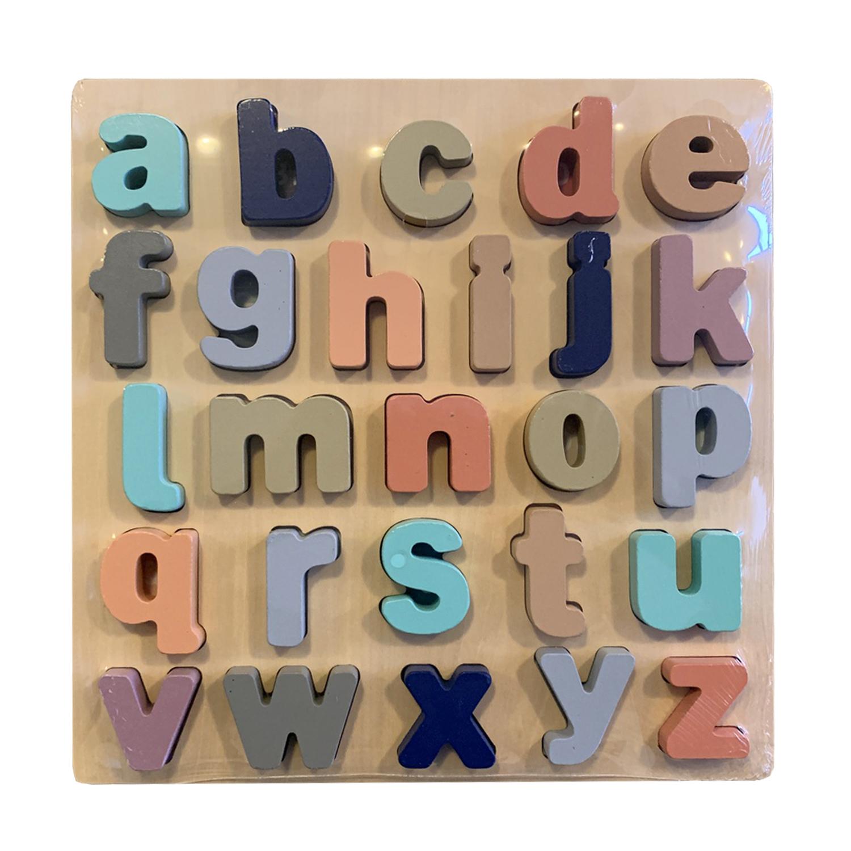 Wooden Alphabet ABC Puzzles lower Case Letter