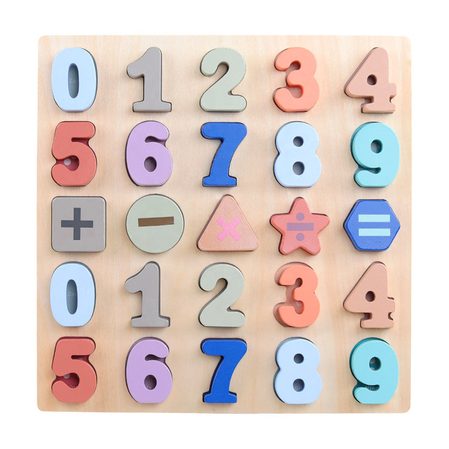 Wooden Numbers & Shapes Board
