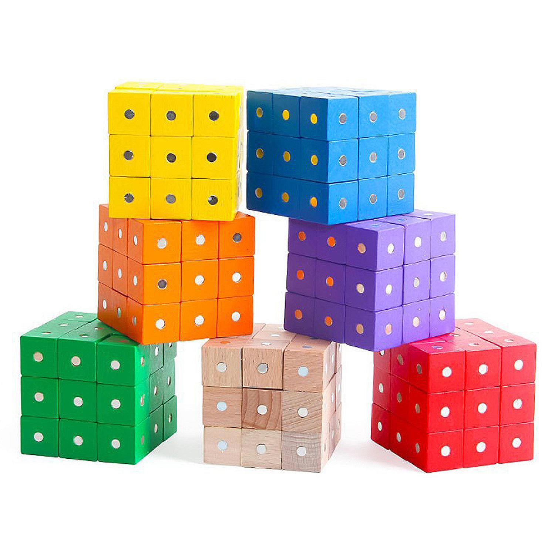 70 PCS Magnetic Cubes (10 of each color)