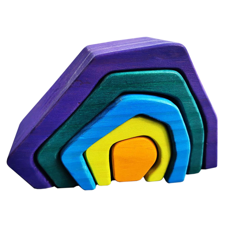 Wooden Rainbow Rock