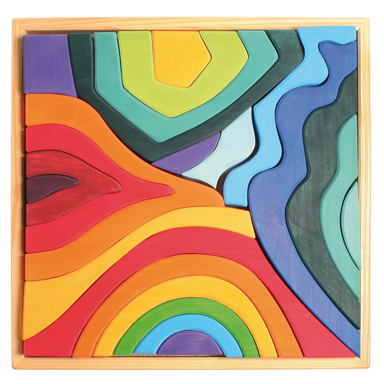 Giant 4 Elements Rainbows Puzzle Set