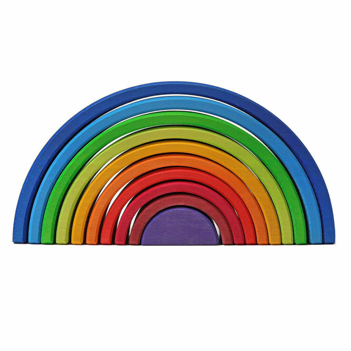 10 X Wooden Rainbow Sunset Color